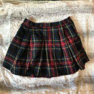 Forever 21 Plaid Mini Skater Skirt
